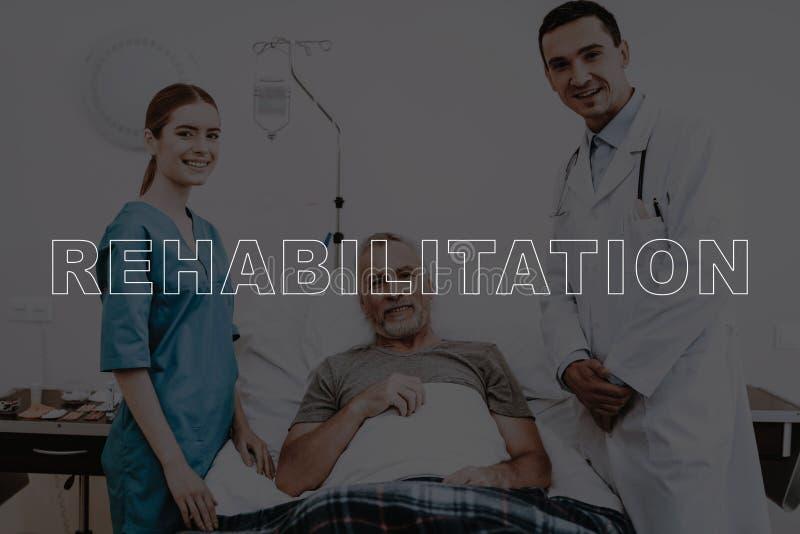 Controllo medico paziente di riabilitazione del collage su fotografia stock libera da diritti