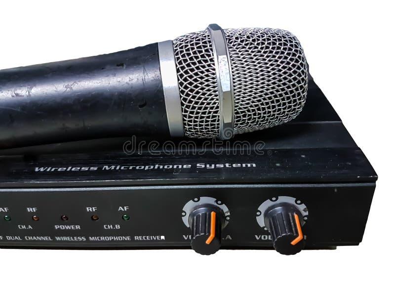 Controllo mic degli amplificatori audio immagini stock