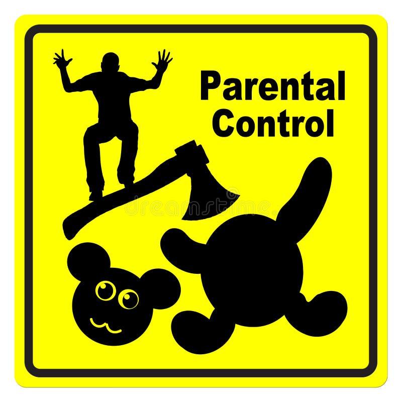 Controllo paterno illustrazione vettoriale