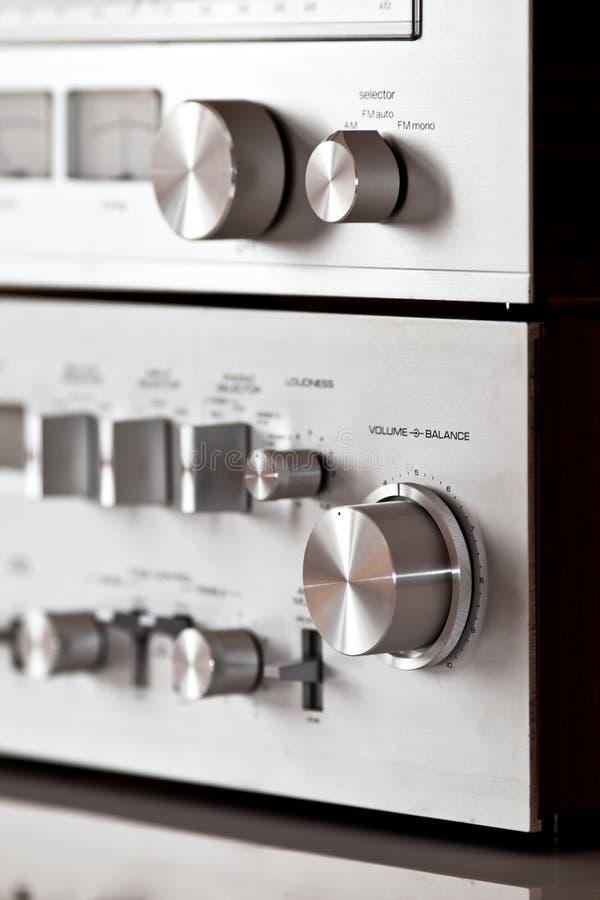 Controllo stereo del perno del volume di elettronica Analog immagine stock libera da diritti
