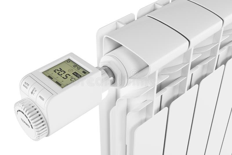 Controllo Thermoregulator della valvola sul radiatore royalty illustrazione gratis