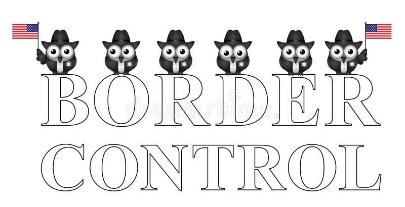 Controlo de fronteiras dos EUA ilustração royalty free