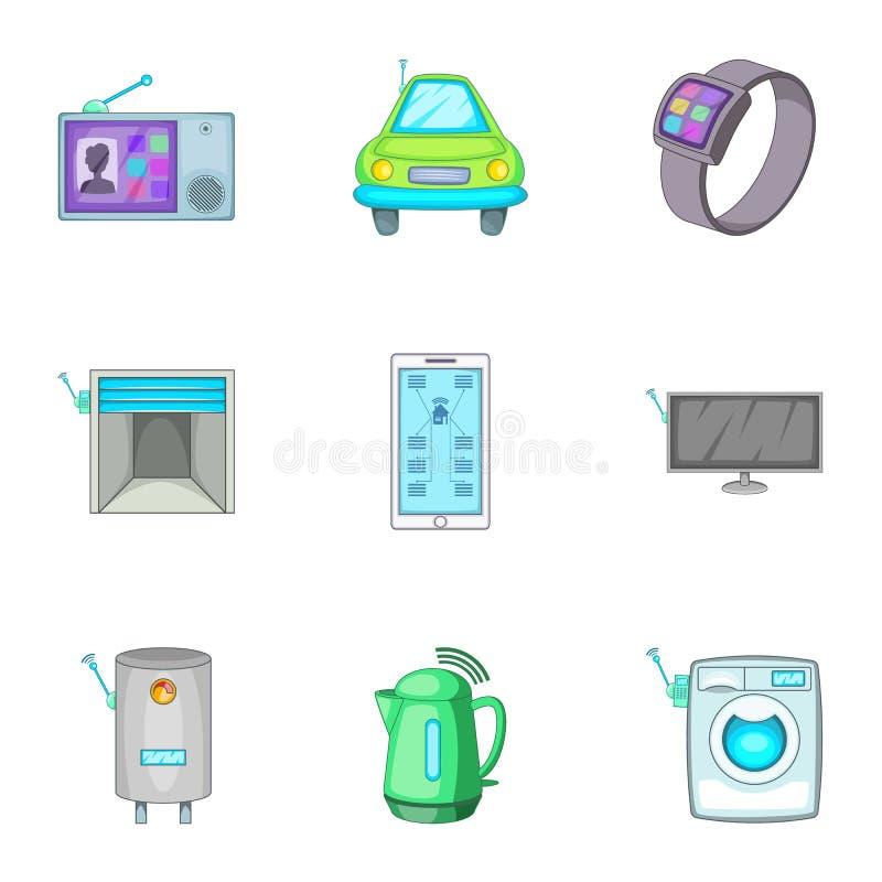 Controlo de segurança esperto do techology da automatização da casa ilustração stock