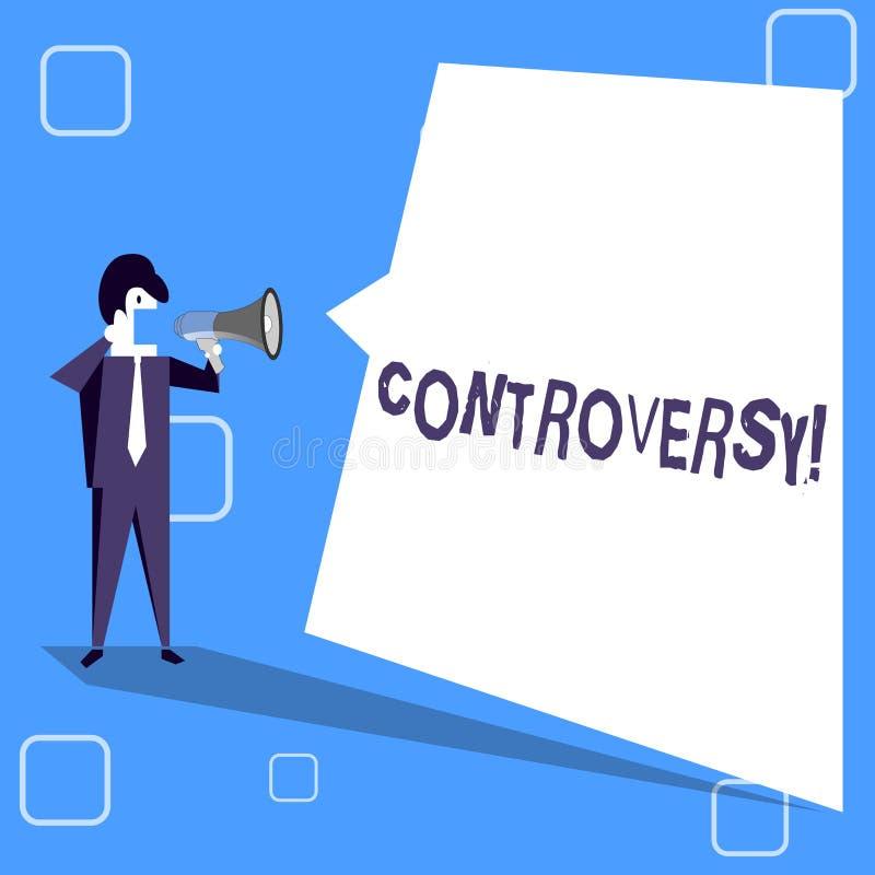 Controvérsia da escrita do texto da escrita Desacordo ou argumento do significado do conceito sobre algo importante para mostrar ilustração do vetor