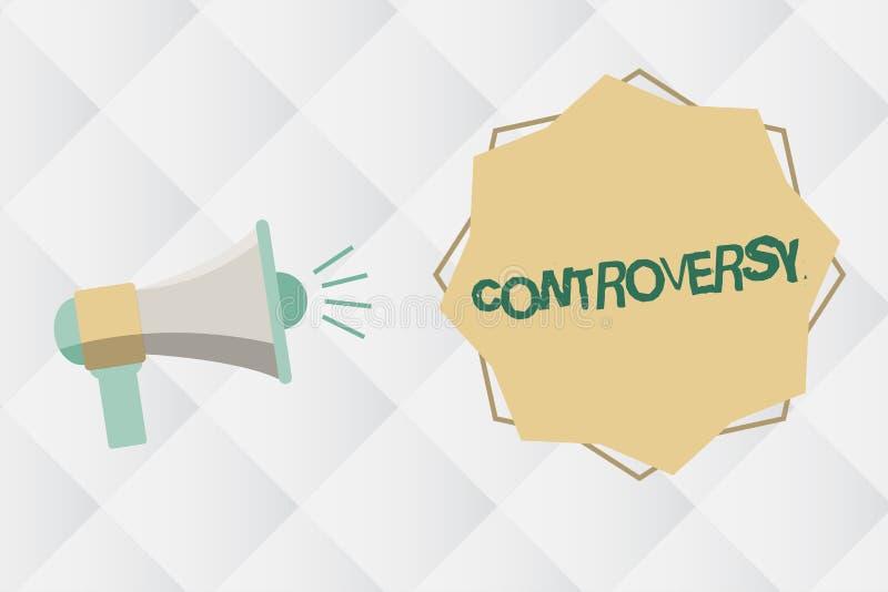 Controvérsia do texto da escrita Desacordo ou argumento do significado do conceito sobre algo importante para mostrar ilustração do vetor