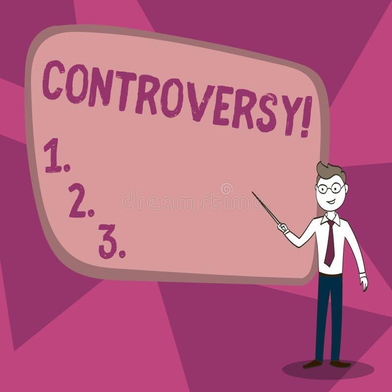 Controvérsia do texto da escrita da palavra Conceito do negócio para o desacordo ou argumento sobre algo importante para mostrar ilustração royalty free