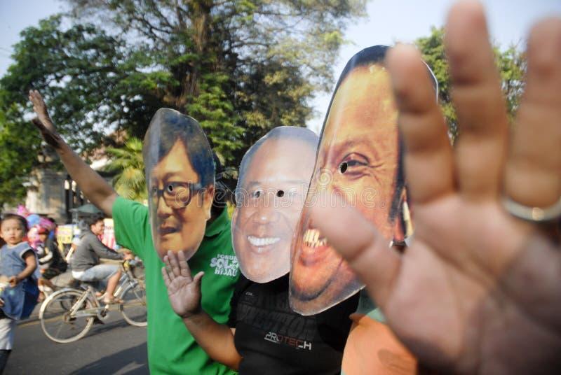 CONTROVÉRSIA INDONÉSIA DA GUERRA DA CORRUPÇÃO foto de stock