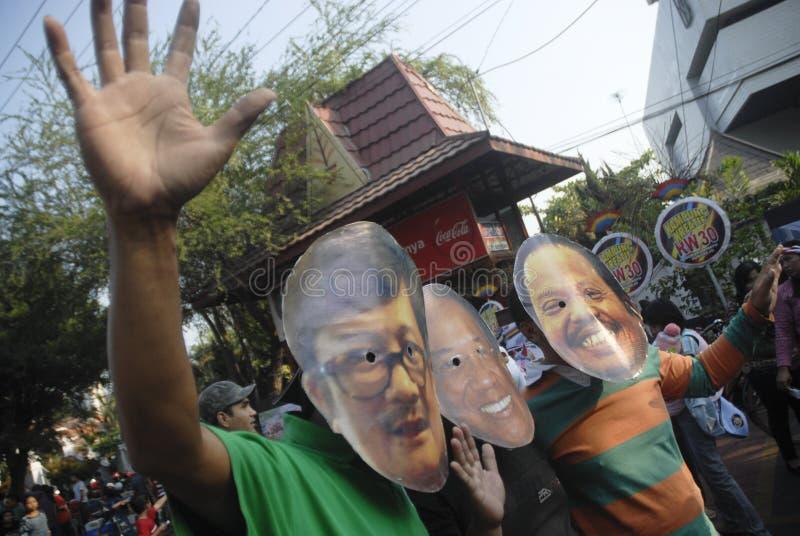 CONTROVÉRSIA INDONÉSIA DA GUERRA DA CORRUPÇÃO imagem de stock