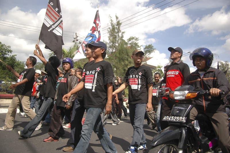 CONTROVÉRSIA INDONÉSIA DA POLÍCIA fotos de stock