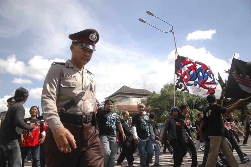 CONTROVÉRSIA INDONÉSIA DA POLÍCIA fotografia de stock royalty free