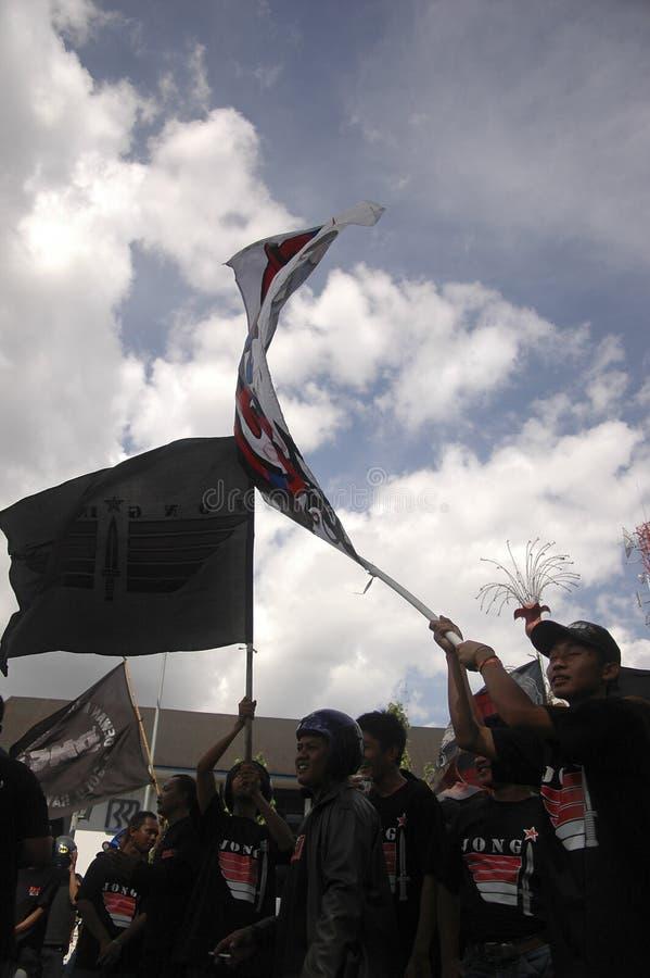 CONTROVÉRSIA INDONÉSIA DA POLÍCIA foto de stock royalty free