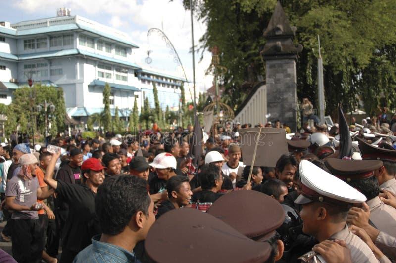 CONTROVÉRSIA INDONÉSIA DA POLÍCIA imagem de stock royalty free