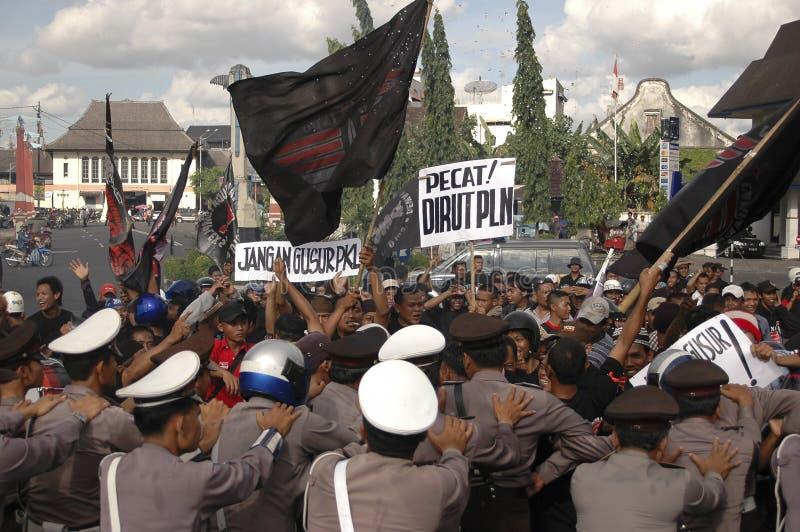 CONTROVÉRSIA INDONÉSIA DA POLÍCIA foto de stock