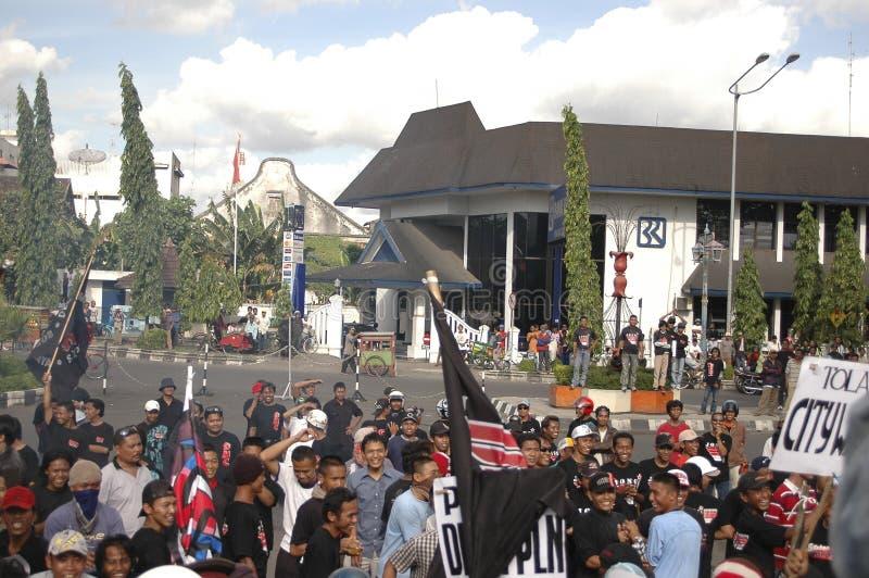 CONTROVÉRSIA INDONÉSIA DA POLÍCIA fotos de stock royalty free