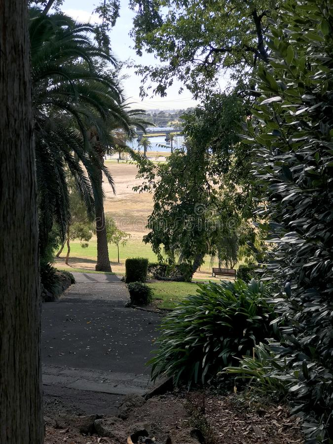 Controverse public sur le parc Footscray 2 images stock