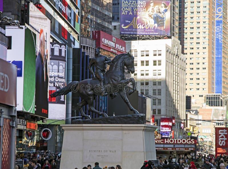 Rumors of War Statue stock photos