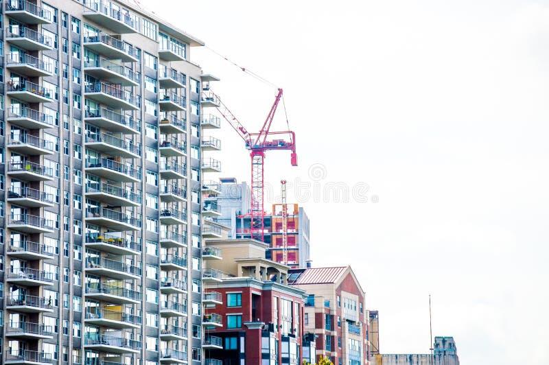 Contruction σε ένα κτήριο πολυόροφων κτιρίων στη Βοστώνη στοκ φωτογραφία με δικαίωμα ελεύθερης χρήσης