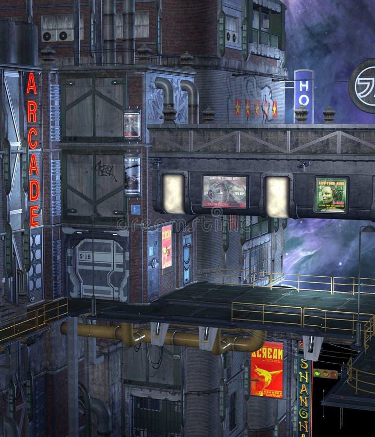 Contruction 2 da ficção científica ilustração stock
