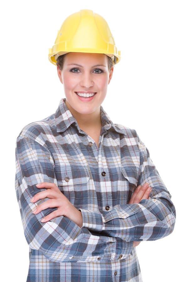 Contruction Arbeitskraft (Frau) lizenzfreie stockbilder