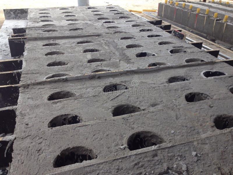 Contruction pracy beton Ductbank zdjęcie royalty free