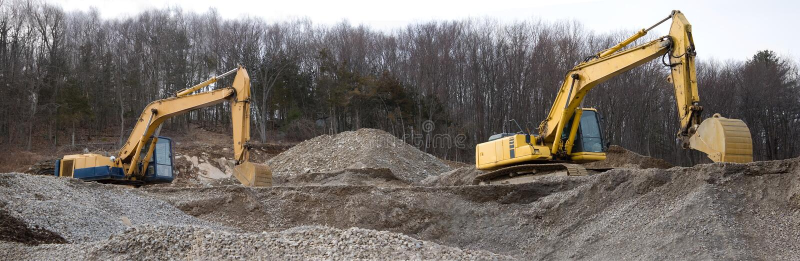 Download Contruction Site Panorama stock image. Image of digger - 8892355