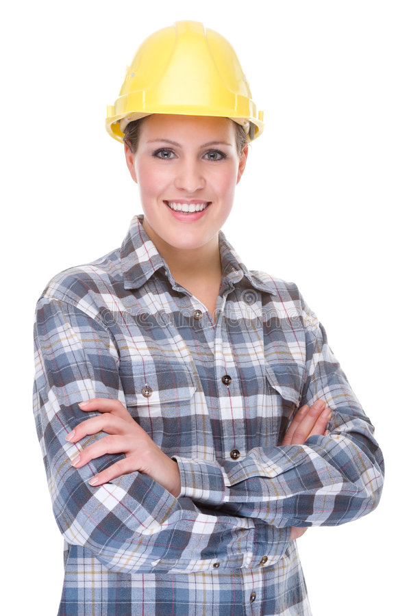 Contruction worker (woman) royalty free stock images