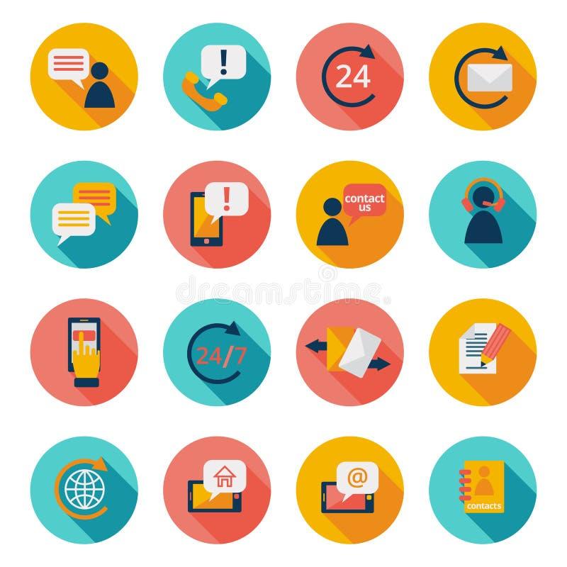 Contuct noi icone illustrazione di stock