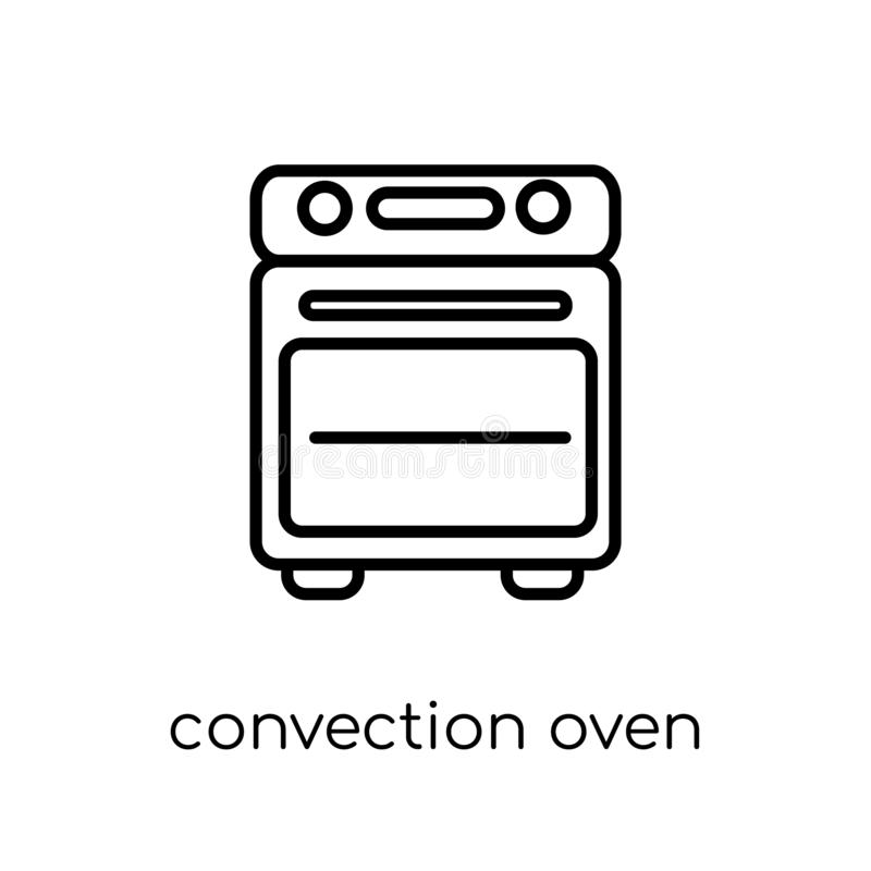convection oven icon. Trendy modern flat linear vector convection oven icon on white background from thin line Electronic devices vector illustration