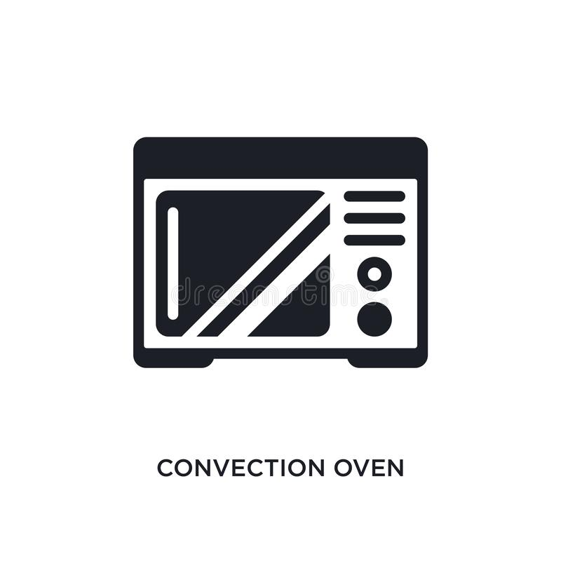 Convection oven isolated icon. simple element illustration from electronic devices concept icons. convection oven editable logo. Sign symbol design on white vector illustration