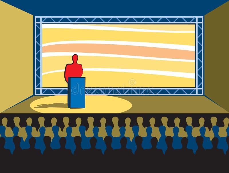 Convenção ilustração stock
