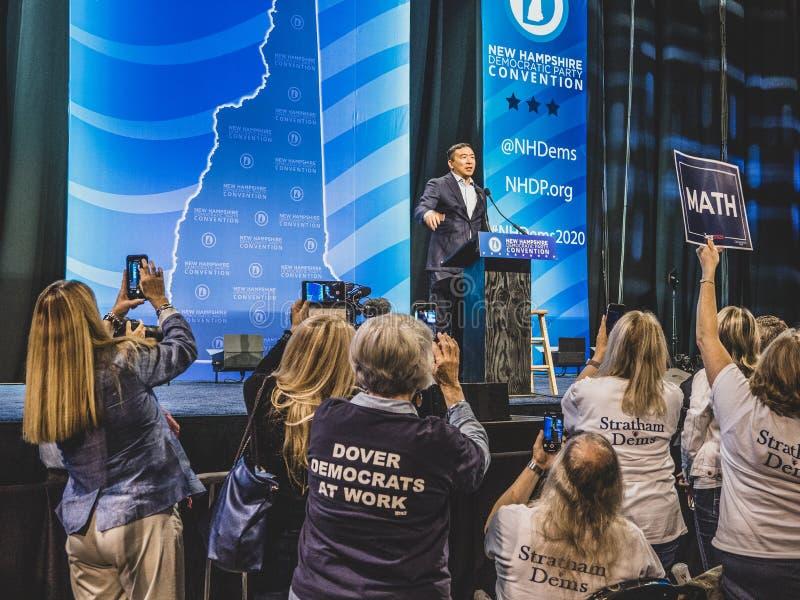 Convenção do Partido Democrático de Hampshire imagens de stock