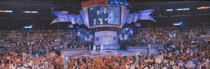 2000 convenções nacionais Democráticas, Los Angeles, Califórnia imagem de stock royalty free