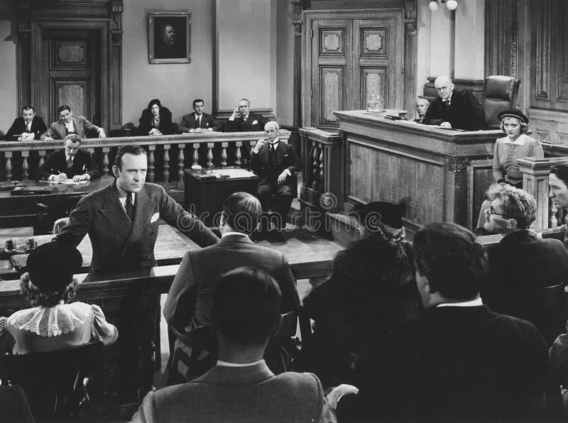 Convencimiento del jurado imagen de archivo