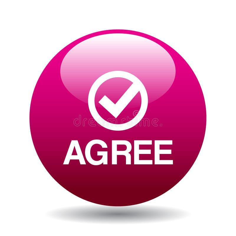 Convenez/acceptez le bouton illustration libre de droits
