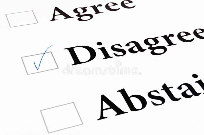 Convenez sont en désaccord s'abstiennent forme images libres de droits