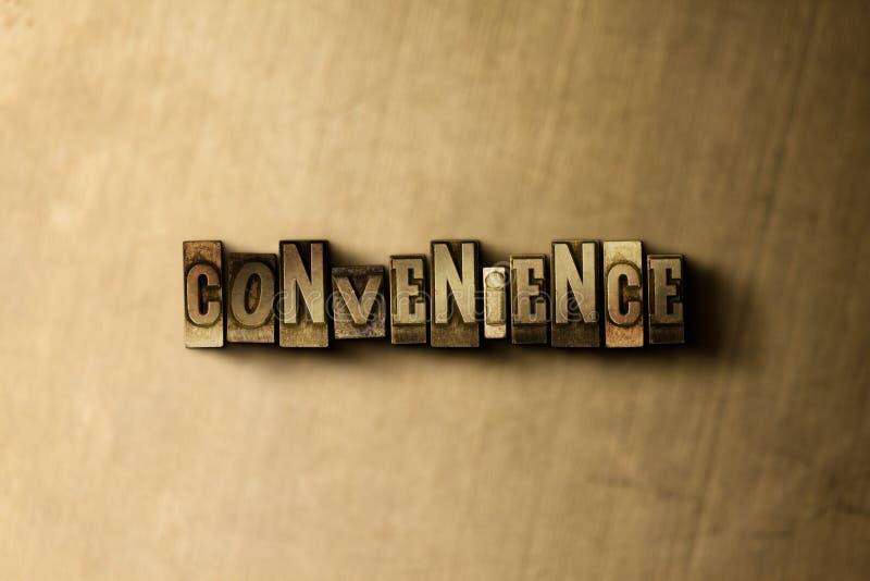 CONVENIENCIA - primer de la palabra compuesta tipo vintage sucio en el contexto del metal libre illustration