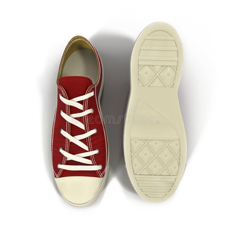 Conveniente para las zapatillas de deporte para hombre de los deportes Presentado en un blanco ilustración 3D ilustración del vector