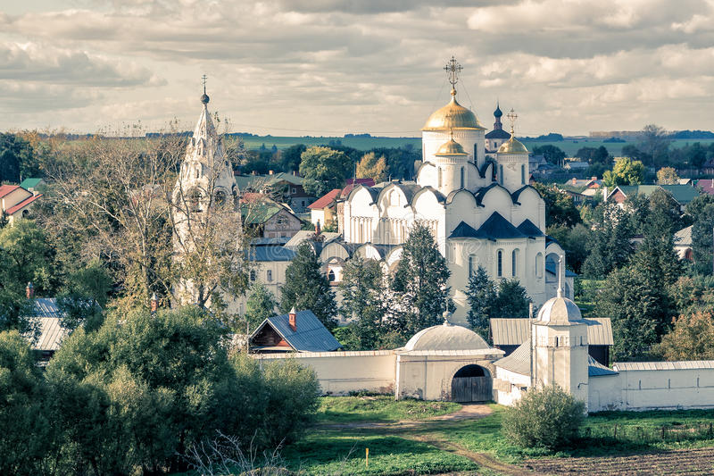 Convent of the Intercession in Suzdal, Russia. Convent of the Intercession (Pokrovsky monastery) in the ancient town of Suzdal, Russia. Golden Ring of Russia royalty free stock images
