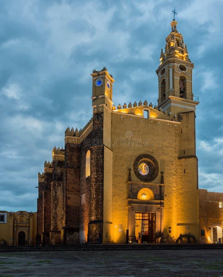Convent of San Gabriel in Cholula, Puebla, Mexico. View of Convent of San Gabriel in Cholula, Puebla, Mexico stock image