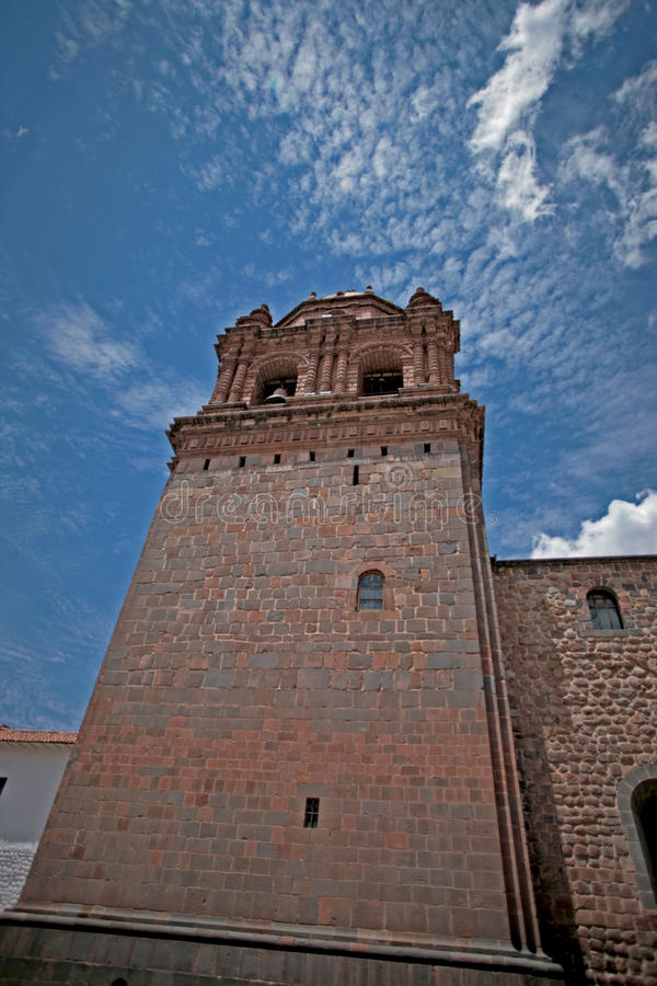 Convent of Santo Domingo, Cusco. Qoricancha and Santo Domingo together form perhaps the most vivid illustration in Cusco of Andean culture`s collision with royalty free stock photo
