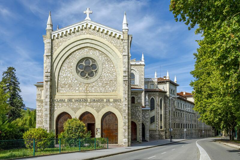 Convent of the Slaves of the Sacred Heart of Jesus in Burgos Spain stock afbeelding