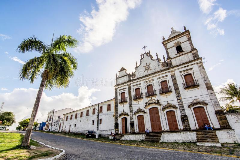 Convent of St. Anthony and Ensemble of the Sacred Heart of Jesus, Igarassu, Pernambuco, Brazil. Convent of St. Anthony and the Ensemble of the Sacred Heart of stock photography