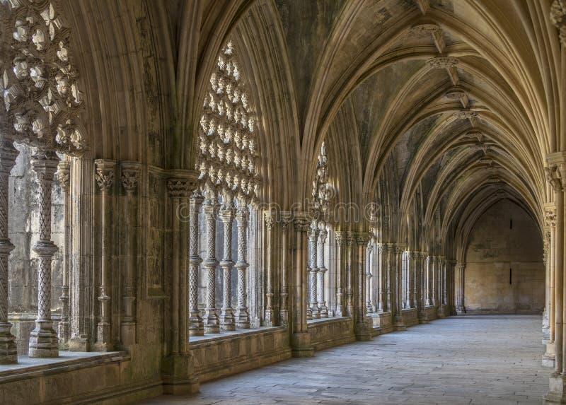 Conventi del monastero di Batalha - il Portogallo immagine stock libera da diritti