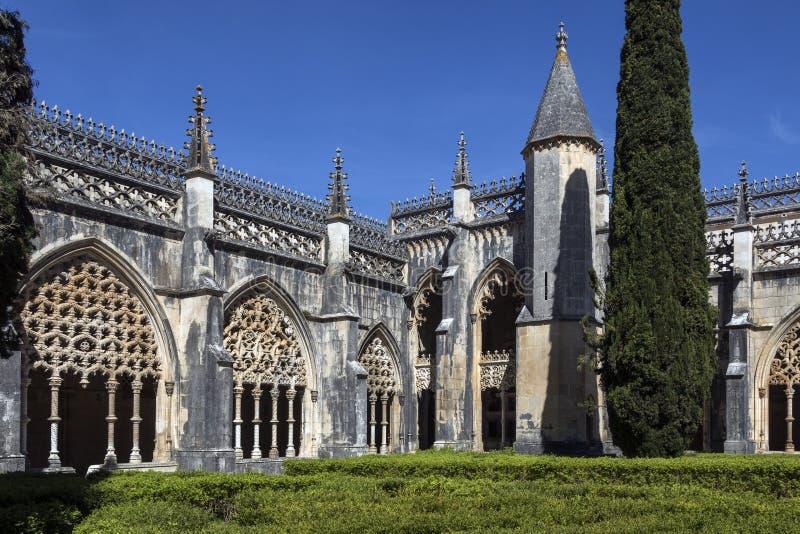 Conventi nel monastero di Batalha - il Portogallo immagini stock libere da diritti