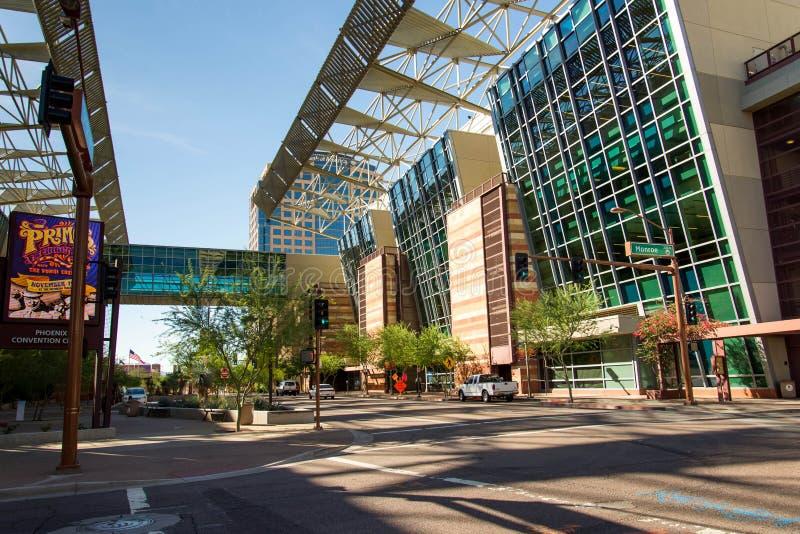 Convention Center extérieur à Phoenix, AZ photo stock