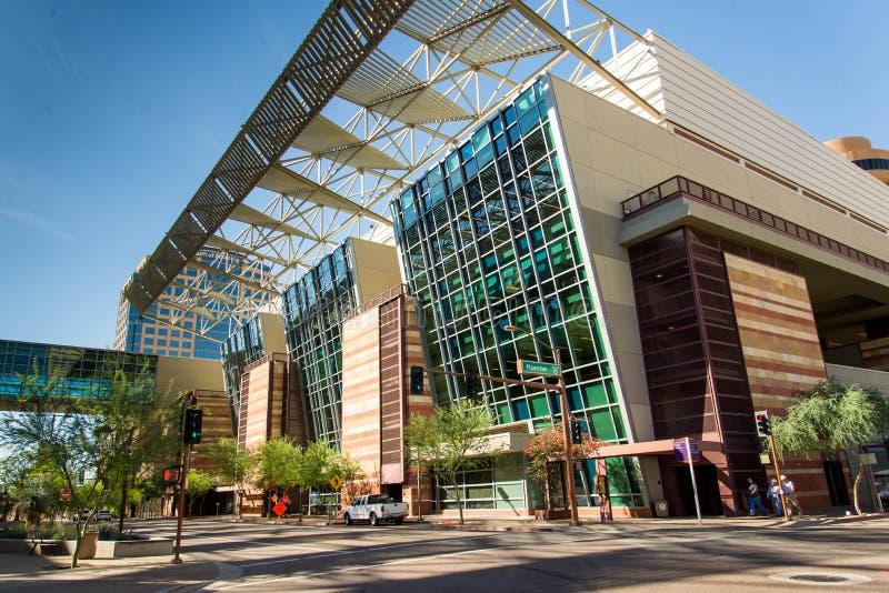 Convention Center exterior em Phoenix, AZ fotografia de stock royalty free