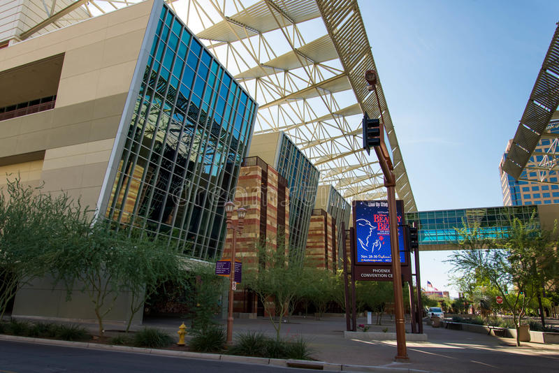 Convention Center exterior em Phoenix, AZ fotos de stock