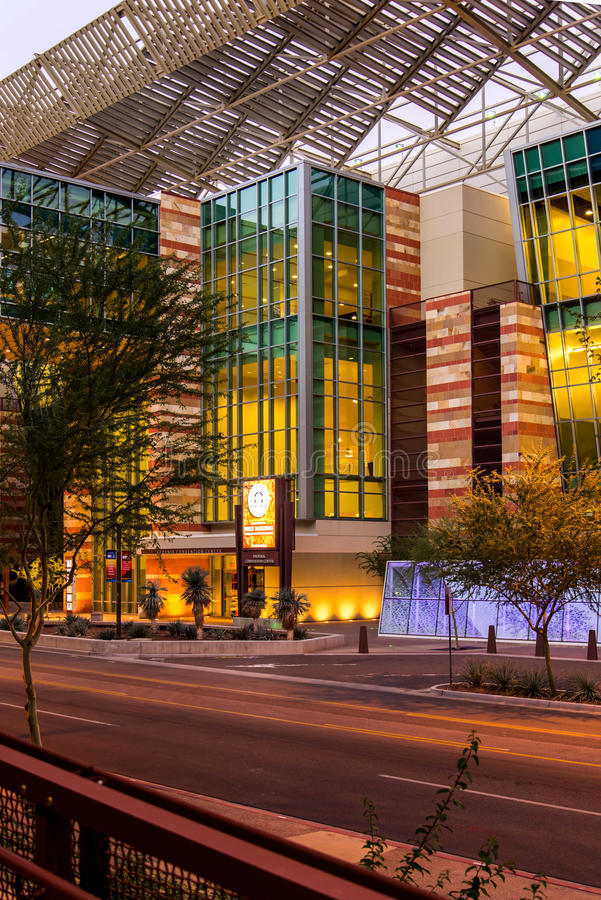 Convention Center exterior in Phoenix, AZ stock image