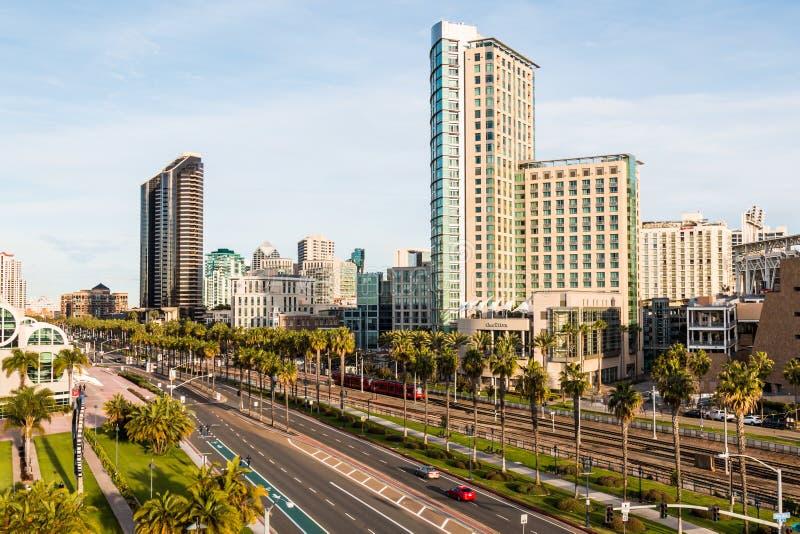 Convention Center -Gebied van San Diego, Californië royalty-vrije stock afbeelding