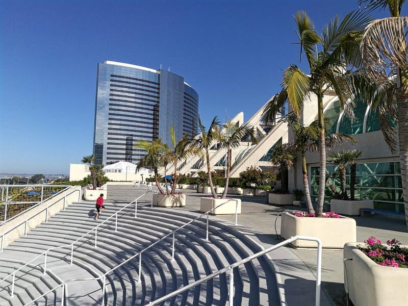 Convention Center i nowożytni budynki w San Diego, usa fotografia royalty free